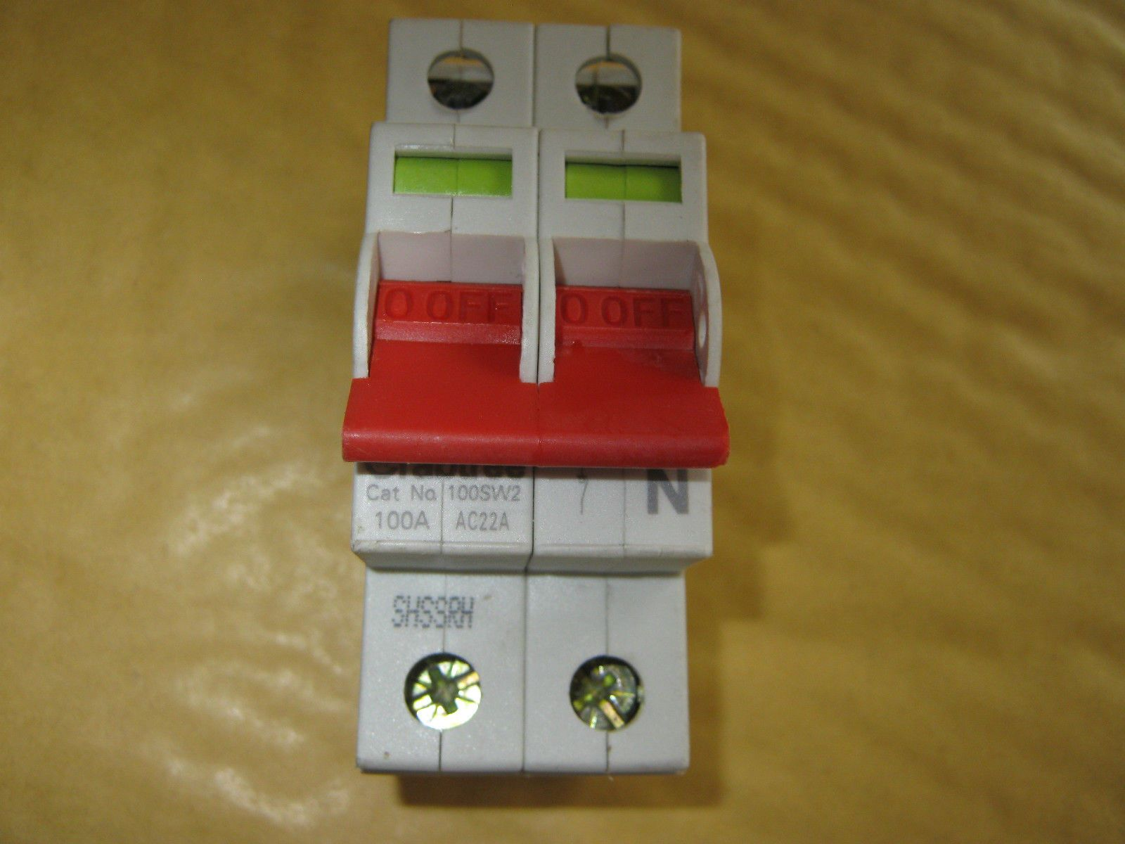 Crabtree 100sw2 100 Amp Main Switch Disconnector Ac22a Bs